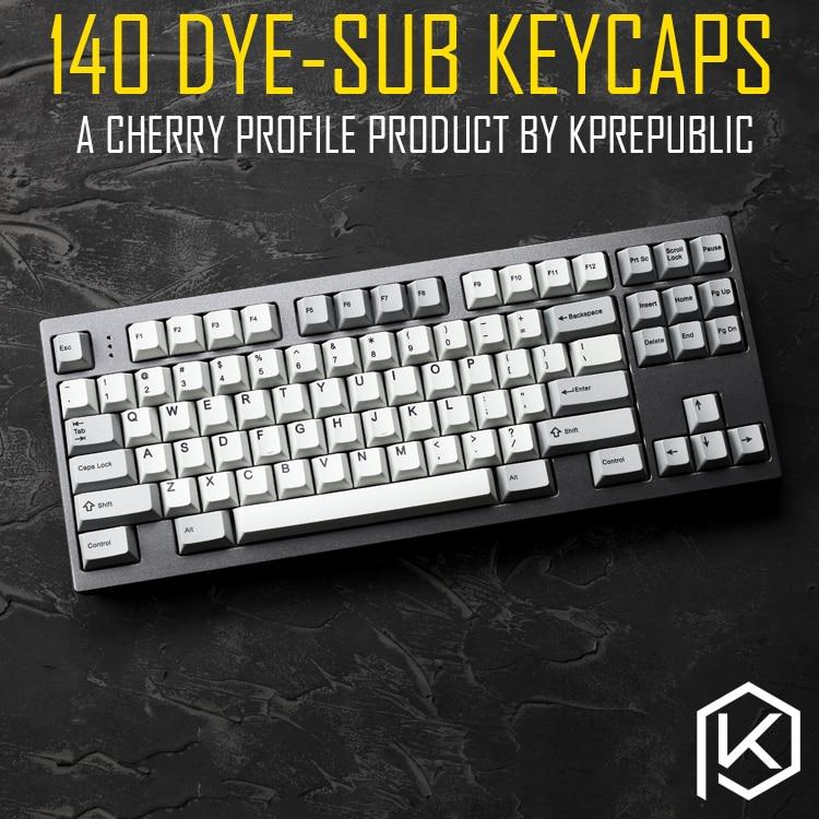 Kprepublic 139 Cherry Profile Dye Sub Keycap Set Thick PBT Plastic  Keyboard Gh60 Xd60 Xd84 Cospad Tada68 Rs96 Zz96 87 104 Fc660