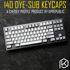 kprepublic 139 Cherry profile Dye Sub Keycap Set thick PBT plastic keyboard gh60 xd60 xd84 cospad tada68 rs96 zz96 87 104 fc660(China)