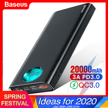 Baseus 20000mAh Power Bank Type C PD Quick Charge 3.0 20000
