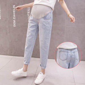 Pants Maternity-Jeans Casual Summer Outer-Wear Loose-Fit New-Products TOEFL Baggy