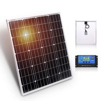 Anaka 18V Solar panel China 80 Watt 12V Charge battery Waterproof Solar Kits Glass Sun Panel Solar System For Home Silicon Panel