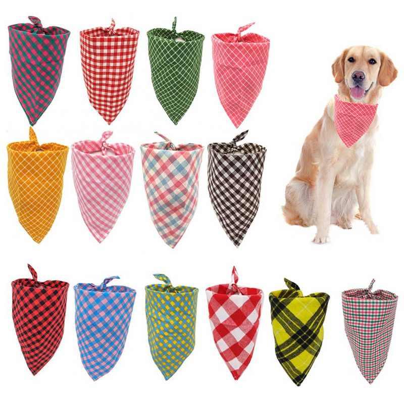 Животное собака кошка шейный шарф Регулируемая бандана для собак Галстук бабочка хлопок плед чистящее полотенце для собаки кошка Уход за котом аксессуары
