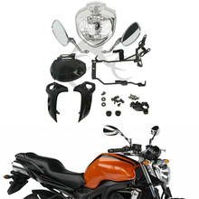 Kit farol da motocicleta conjunto de luz principal para yamaha fz6 fz6n 2004 2006 2005