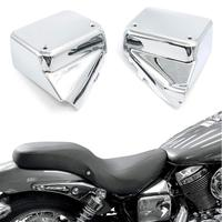 Motoparty Motorcycle Side Cover Battery Fairing For Honda Shadow VT750 DC 2000 2009 / Black Window VT 750 2000 2007 Battery Cap