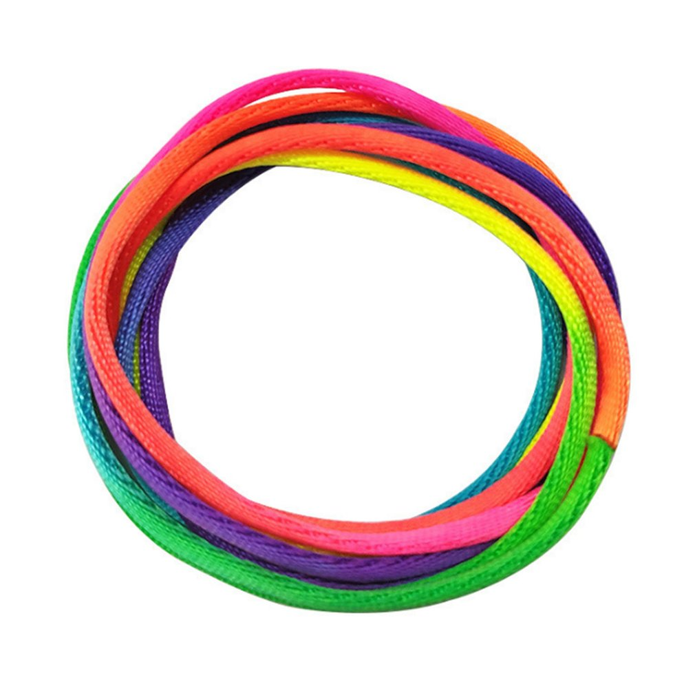 Long-term Use And Sufficient Ensure Entertainment Cradle String Hand Game Finger String Toy Supplies Length Rainbow Color