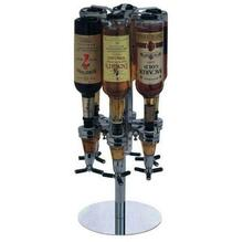 цены 6 Bottle Bar Caddy Liquor Dispenser Wine Storage Rack Holder