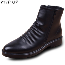 Winter Boots High-Top Black Autumn Casual Fashion for Men Hombre Shoes