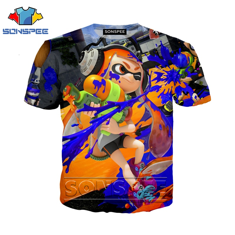 Anime 3d Print T Shirt Streetwear Splatoon Men Women Game Fashion Rock T-shirt Kid Harajuku Tees Funny Shirts Homme Tshirt A79