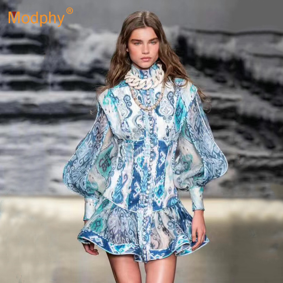 2019 Autumn New Fashion Women's Dress Sexy Long Sleeve Ruffle Slim Mini Dress Celebrity Evening Party Runway Vestidos