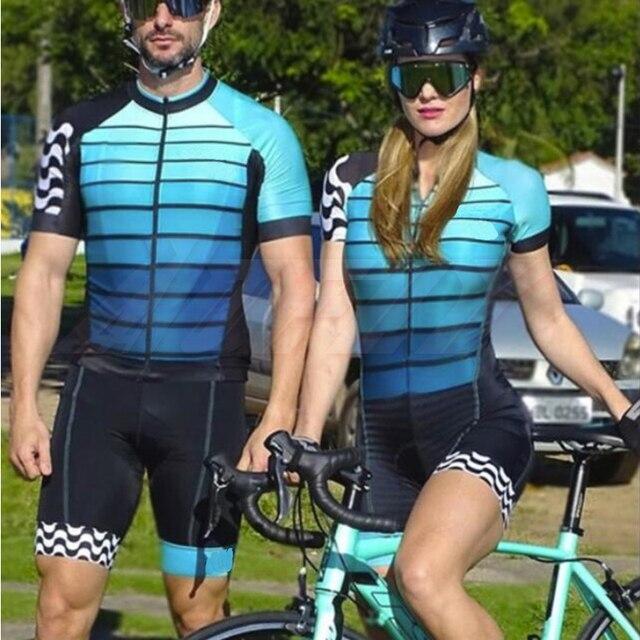 Casais macacão feminino manga curta camisa de ciclismo conjuntos skinsuit maillot ropa ciclismo bicicleta jérsei roupas ir pro equipe 1