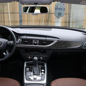 Аксессуары для Audi A6 A7 2012- 2018 центральная консоль из углеродного волокна декоративная панель для внутренней панели автомобиля стикер для ста...