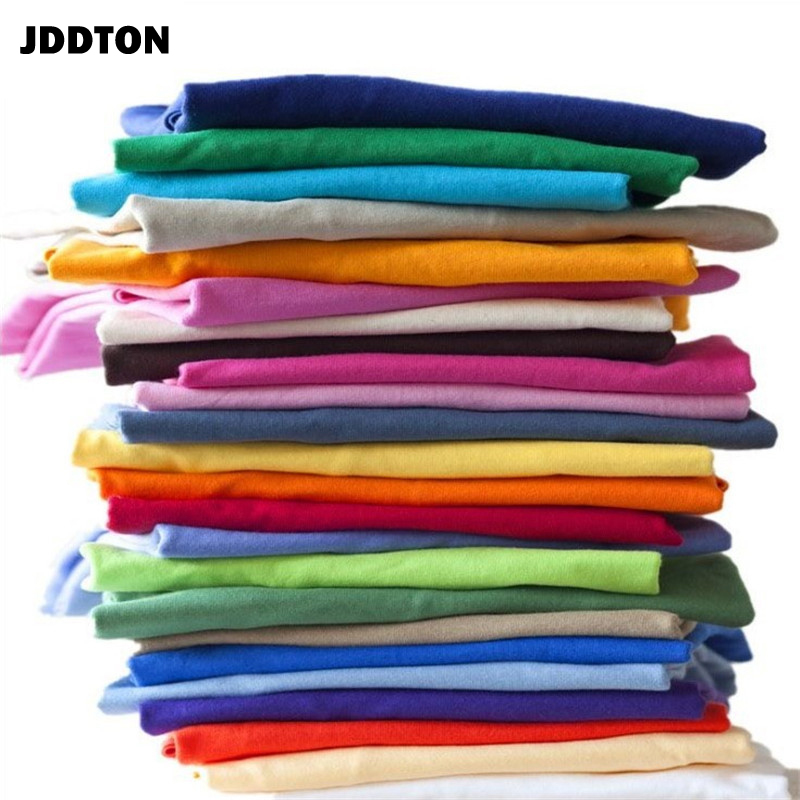 JDDTON Men Summer Slim Top Short Sleeve T-shirt Cotton Solid Color Clothing Casual Outdoor Sports Male Thin Fashion Shirt JE402