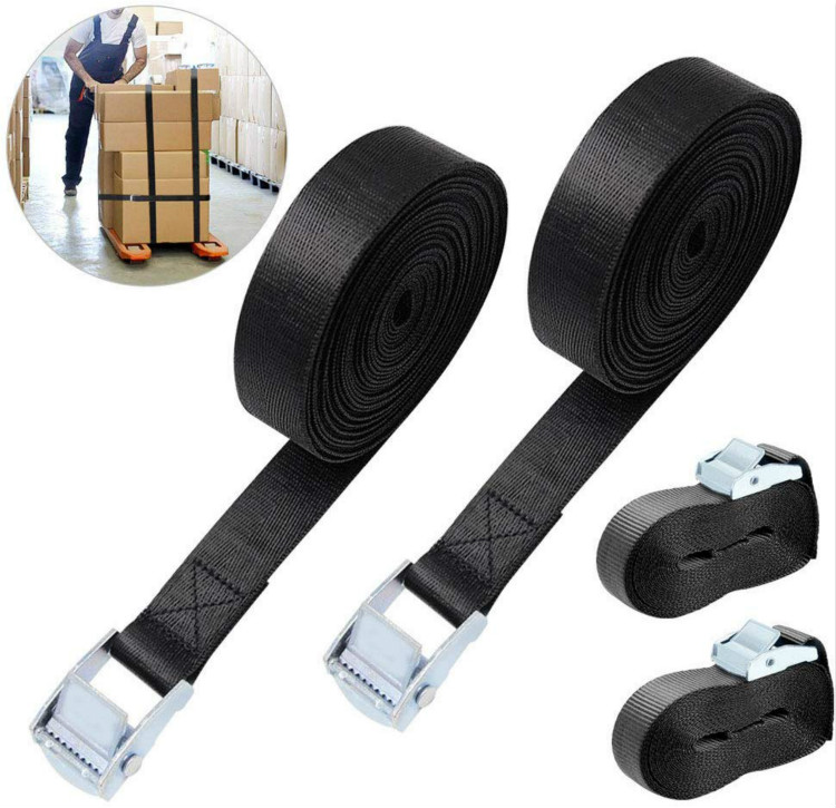 Ratchet Straps Tie Down Belt Cam Buckle Straps Heavy Duty Tensioning Belt Lashing Straps 2M Adjustable For Motorcycle, Cargo, Tr