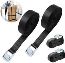Ratchet Straps Tie Down Belt Cam Buckle Heavy Duty Tensioning Lashing 2M Adjustable for Motorcycle, Cargo, Tr