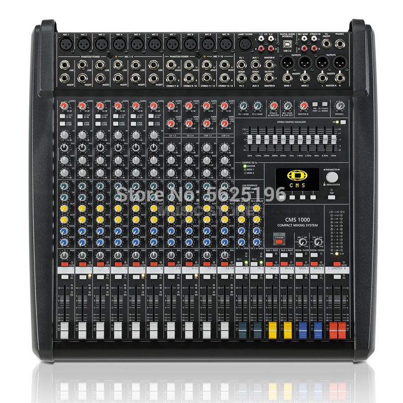 Similar Dynacord CMS1000-3 CMS 1000-3 Audio Mixer Dj Audio Mixer Professional Mixer With Plastic Cover Dual DSP Effects