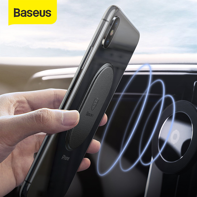 Baseus Metal Plate Disk For Magnet Car Phone Holder Leather Sheet Sticker For Magnetic Air Vent Mount Mobile Phone Holder