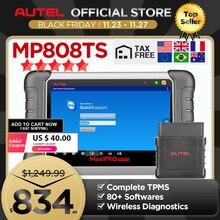 Autel MaxiPRO MP808TSเครื่องมือวินิจฉัยเครื่องสแกนเนอร์บลูทูธWIFI TPMSเครื่องมือโปรแกรมเมอร์Sensor PK MK808 MK808TS AP200