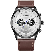 RUIMAS Casual Sport Watches for Men Top Brand Luxury Military Watch Fashion Leather Chronograph Relogio Masculino