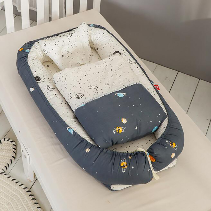 Baby Portable Crib Bumpers Sleeping Cot Nest Crib Baby Bed Protection Pad Foldable  Removable YHM011