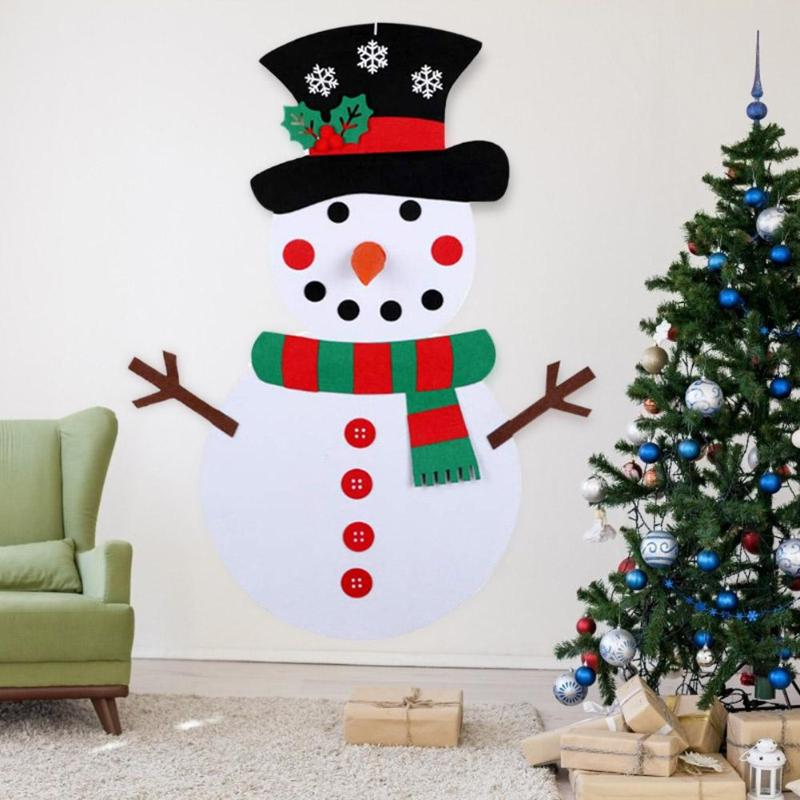 Children DIY Toy Felt Xmas Tree Snowman New Year High-quality Soft Delicate Comfortable Children Gift Home Party Decoration