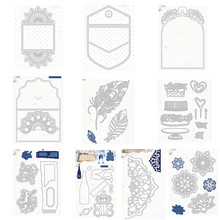 Envelope capa decoração de corte de metal dados para diy scrapbooking cartão de papel artesanato artesanal álbum manual decoração