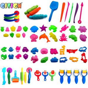 Magic Sand Model Clay Tools DIY Indoor Plasticine Sand Castle Mold Building Dynamic Sand Soft Clay Slime Educational Toys Kit(China)