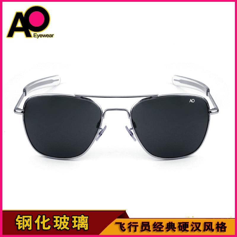 Óculos de sol homem 2020 retângulo exército americano militar óptica ao 8052 óculos de sol piloto condução vidro Óculos de sol    -
