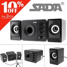 SADA D 205 Neueste Vollständige Palette 3D Stereo Subwoofer 100% Bass PC Lautsprecher Tragbare Musik DJ USB Computer Lautsprecher für Laptop TV