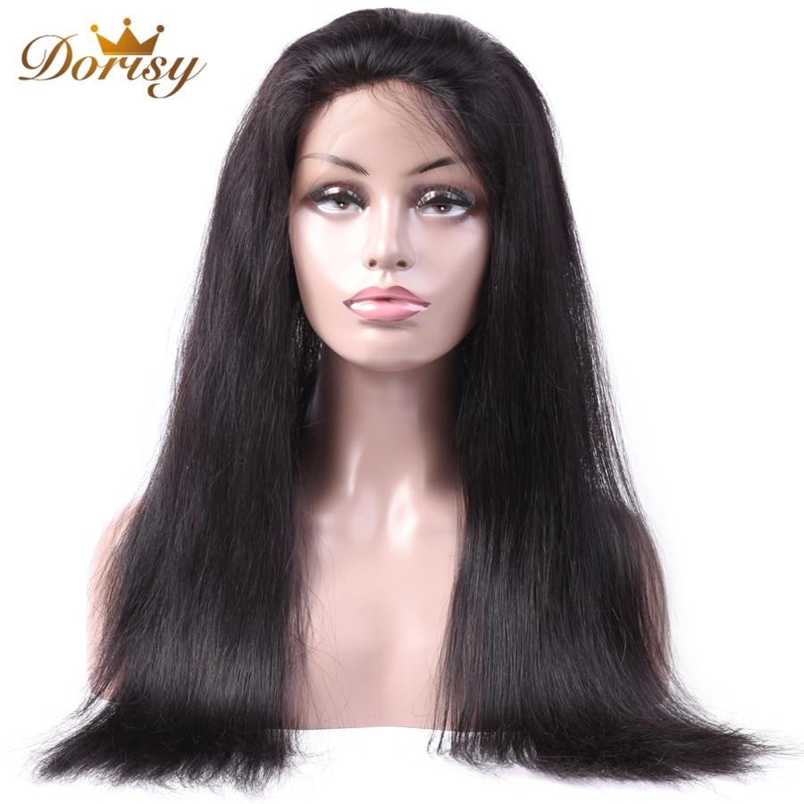 360 Peruca do Laço Frontal Perucas 360 Do Laço Do Cabelo Humano Peruca 360 Perucas de Cabelo Humano Para As Mulheres Negras Do Cabelo Não Remy cabelo Liso brasileira
