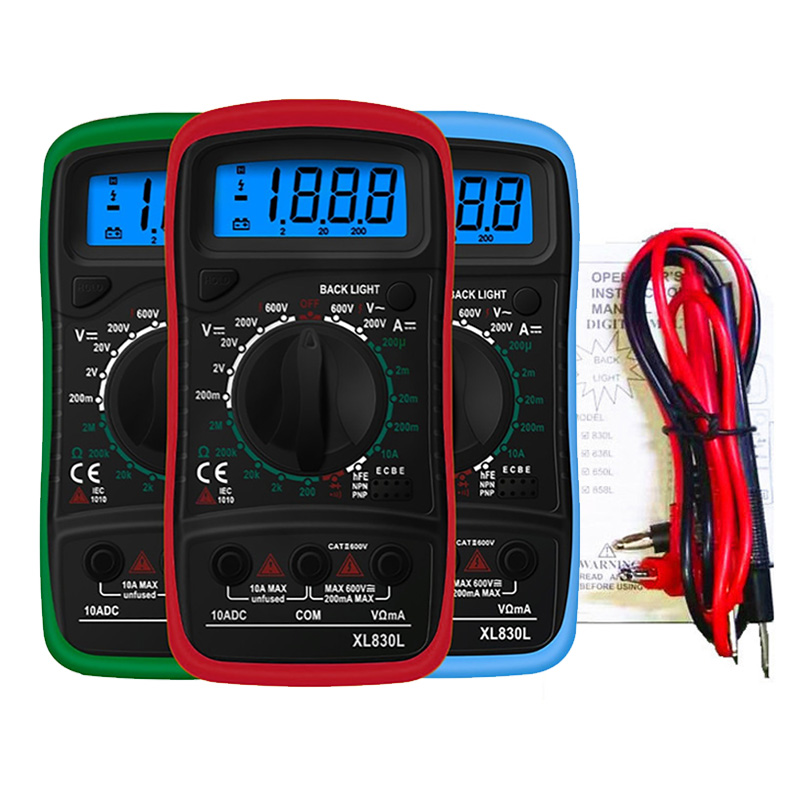 Big Screen Portable Digital Multimeter Backlight AC//DC Ammeter Voltmeter Ohm Tester Meter A830L Handheld LCD Multimetro,Big Screen-d