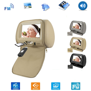 2PCS/SET Universal 7 Inch Car Headrest Monitor Rear Seat Entertainment Multimedia MP4/MP5/USB/SD/FM/Speaker Player(China)
