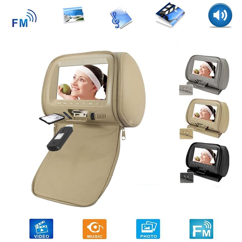 2PCS/SET Universal 7 Inch Car Headrest Monitor Rear Seat Entertainment Multimedia Player