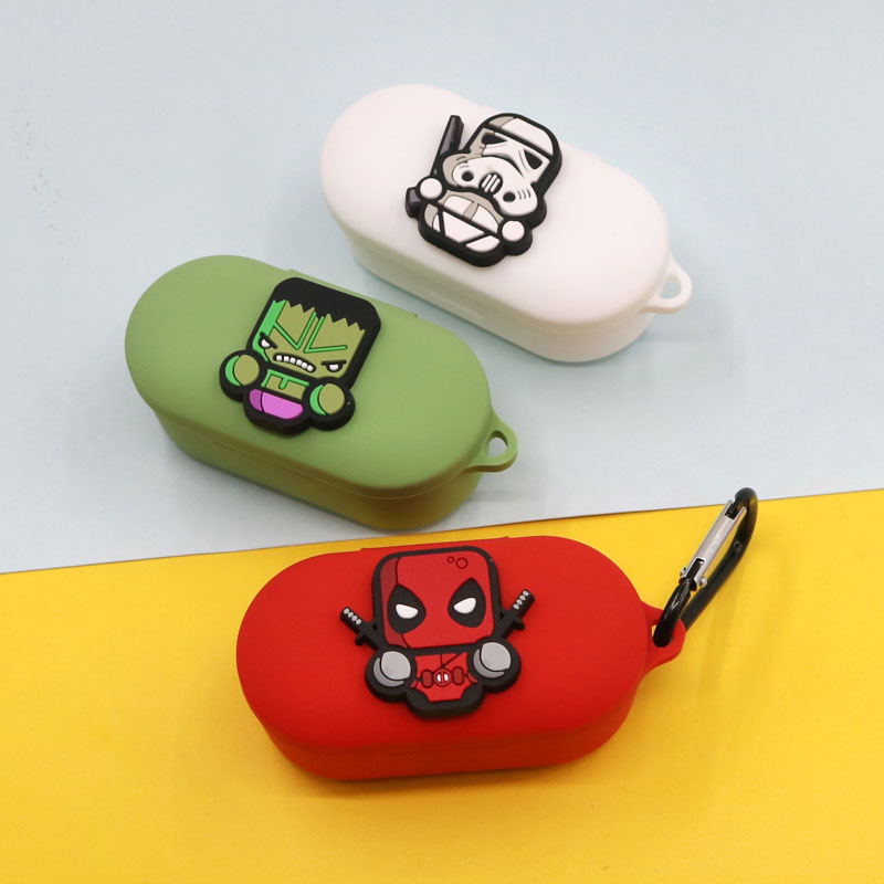 Cartoon Silicone Case For QCY T2c  Wireless Bluetooth Earphone Shockproof Protective Bags For QCY T2c Cover Case Charging Box