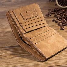 Portefeuille pliable en cuir pour hommes, porte-cartes de crédit/ID, porte-monnaie de luxe