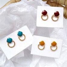 Earrings jewelry fashion earring metal circular exquisite  earrings for women