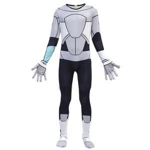 Image 3 - Costume de Cosplay 3D pour garçons et filles, Costume de Cosplay Anime pour adolescents Titans Go Cyborg, combinaison pour Halloween