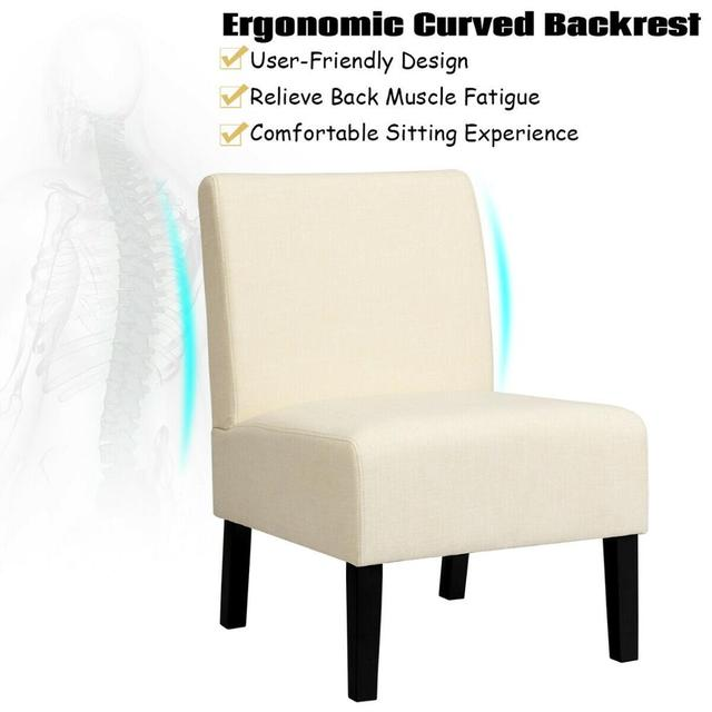 Armless Accent Leisure Chair  5