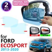 Для Ford EcoSport MK2 2013~ полное покрытие Зеркало заднего вида непромокаемые Анти-противотуманная пленка аксессуары