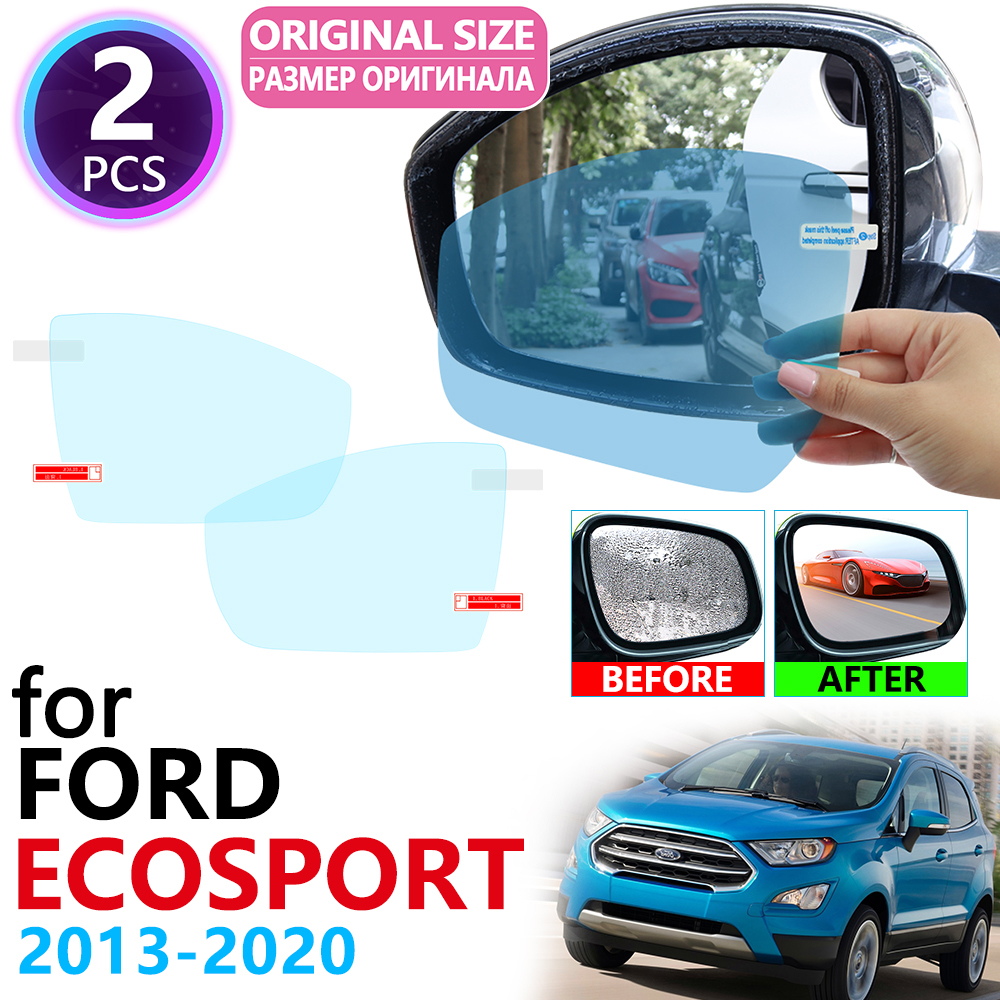 For Ford EcoSport MK2 2013~2020 Full Cover Rearview Mirror Rainproof Anti Fog Film Accessories 2014 2015 2016 2017 2018 2019