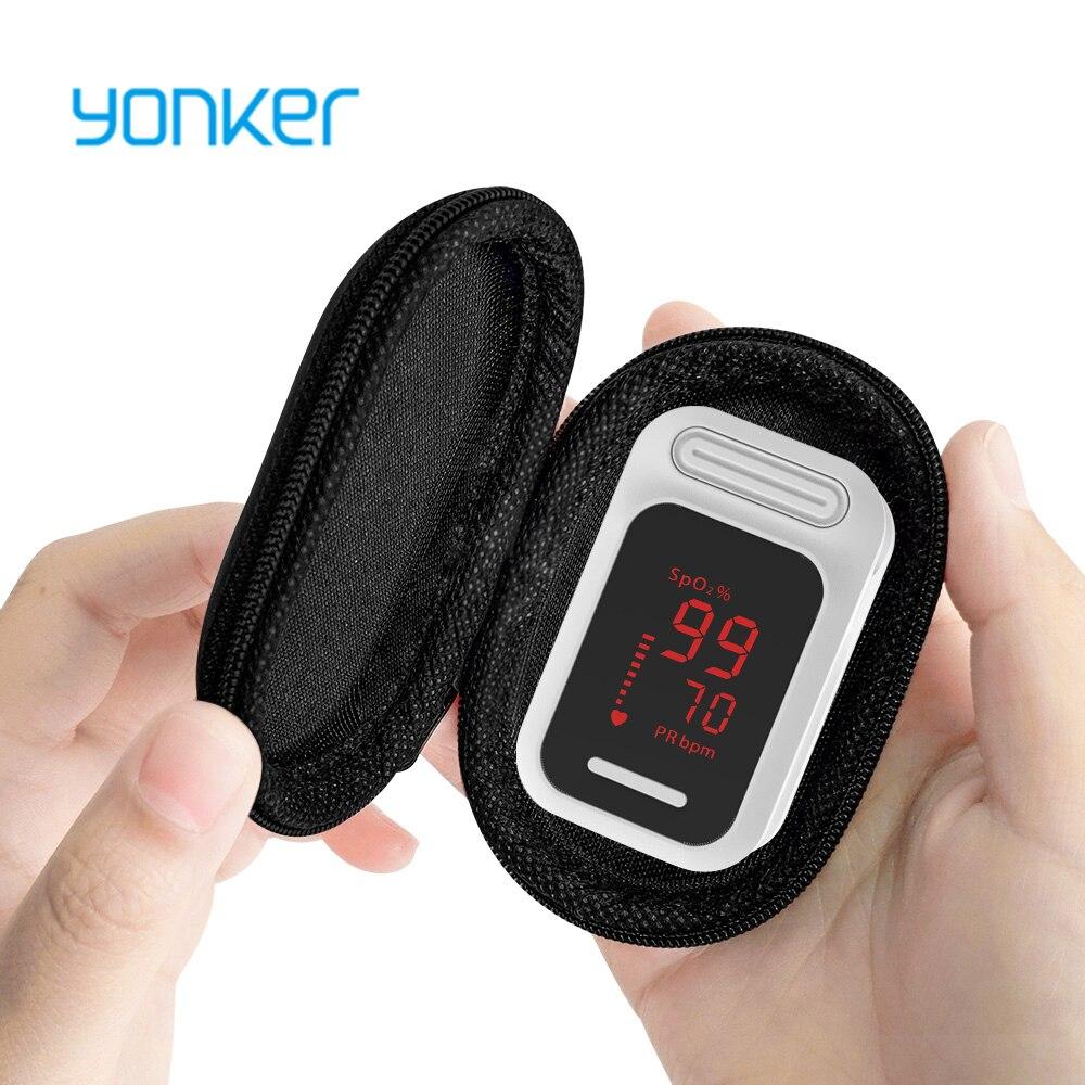 Yonker médical Portable numérique LED doigt oxymètre de pouls sang oxygène Saturation moniteur soins de santé mesure Oximetro