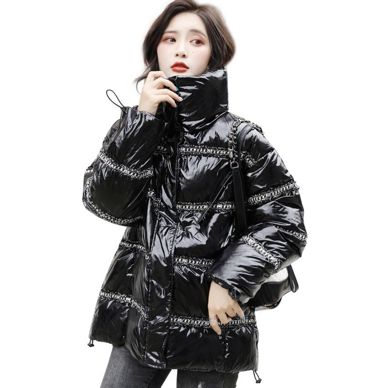 Winter Jacket for Women 2019 Fashion Parka   Coat   Feminine Warm Stand Collar White Duck   Down     Coats   Woman Large Outwear Female