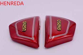 Piezas de motocicleta GN250 ABS, cubierta lateral para Suzuki Wangjiang gn 250, placa protectora de tanque de combustible 250cc rojo