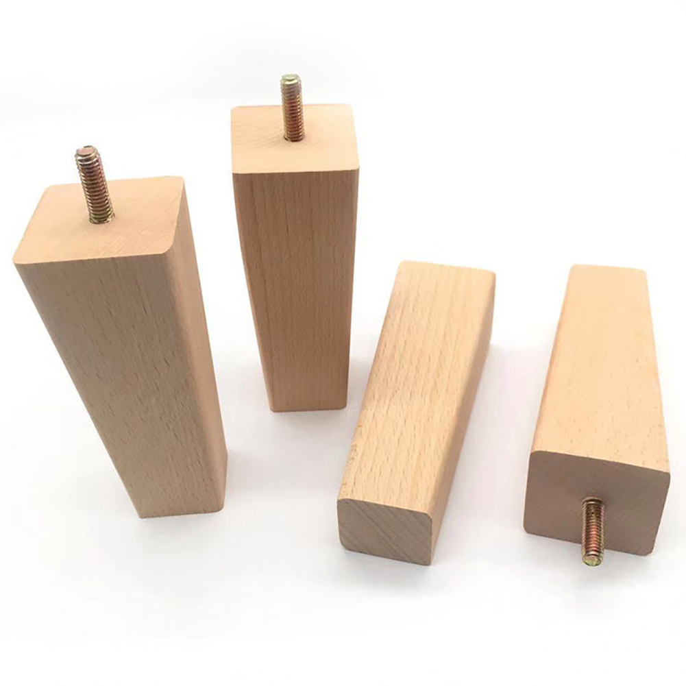 4Pcs Right Angle Table Feet Home Square Replacement Anti Moisture Tool Reliable Furniture Leg Solid Wooden DIY Parts Universal