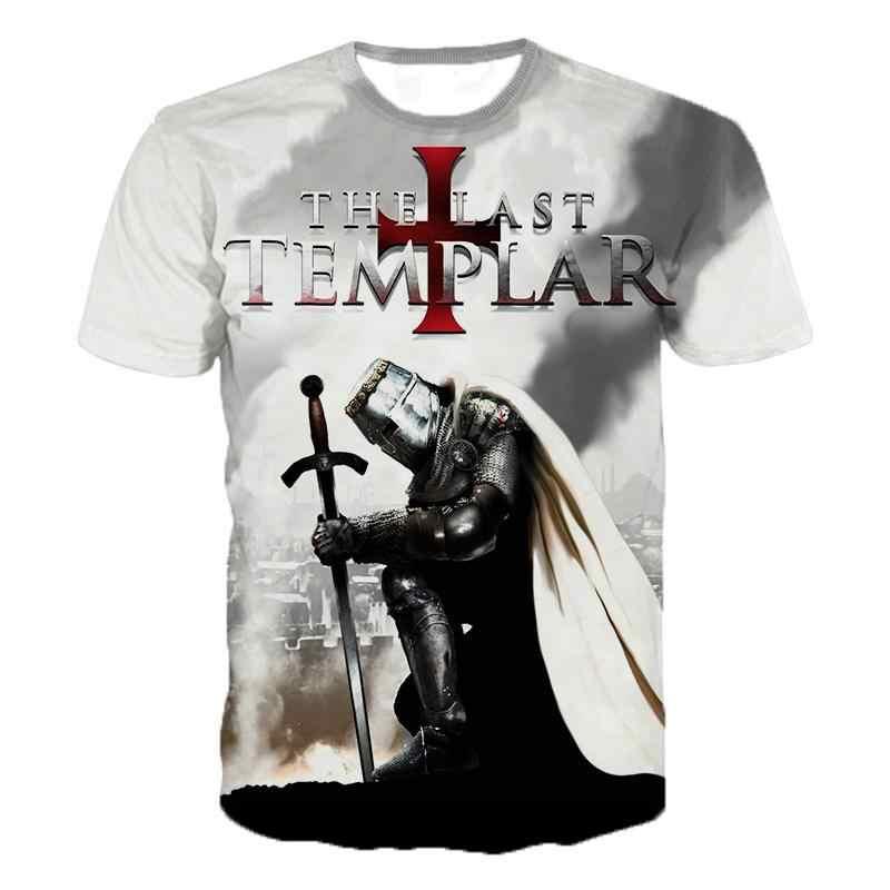テンプル騎士団 3dプリントtシャツ騎士団ファッションカジュアルtシャツ男性女性ヒップホップ原宿ストリートtシャツtシャツトップス
