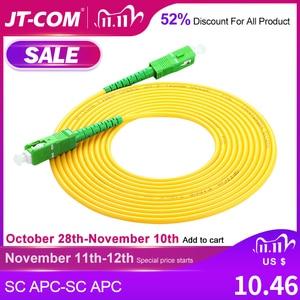 Image 1 - SC SC Singlemode Fiber Optic Patch Cable SC APC SM 2.0mm 3.0mm 9/125um FTTH Fiber Patch Cord Optical Fiber Jumper 3m 5m 10m 30m