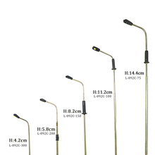 1/500 scale 3cm cool light miniature led street light for architectural scale model layout