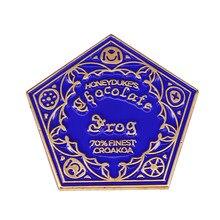 Hogsmeade magia doce pentagon doces esmalte pino honeydukes broche de chocolate