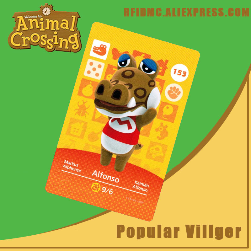 153 Alfonso Animal Crossing Card Amiibo For New Horizons