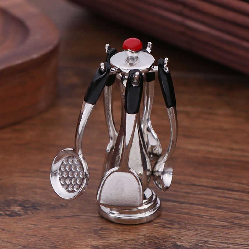 10 sztuk/zestaw akcesoria do zabawek spożywczych mini zastawa stołowa 1:12 Doll house miniaturowy rysunek widelec pot zestaw kuchenny lalki udawaj zabawki