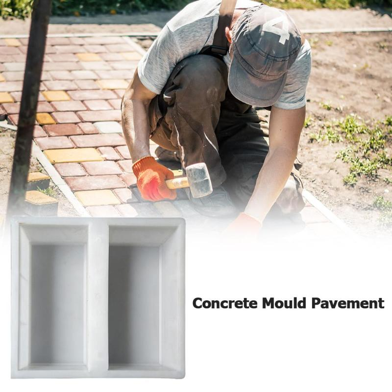 DIY Courtyard Road Pavement Stone Mold Path Paving Garden Concrete Brick Mould Use Heavy Plastic Mould Garden Stepping Stone